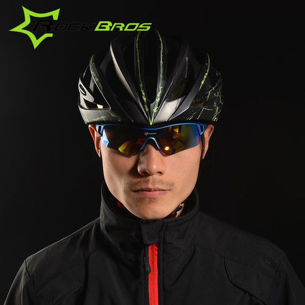 Trendy Polarized Cycling Bicycle Sunglasses Eyewear with Myopia Frame - Sunglasses