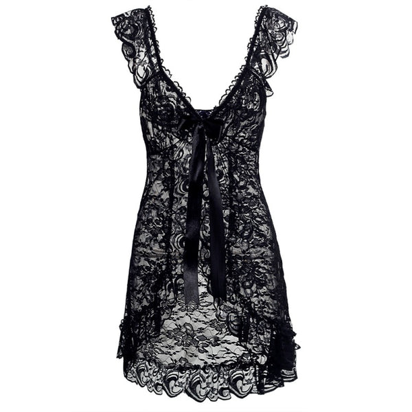 Sexy Lace Nightwear For Women With G-String-Fashion3K
