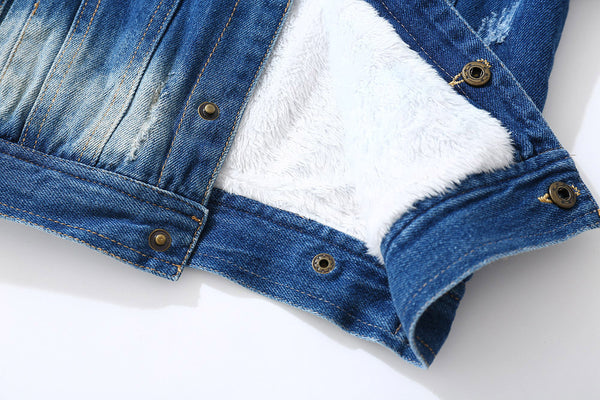 Designer Children's Denim Jacket-Fashion3K