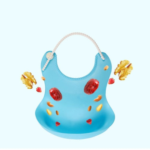 Washable Silicone Infant Feeding Baby Kid Children Bib Waterproof-Fashion3K