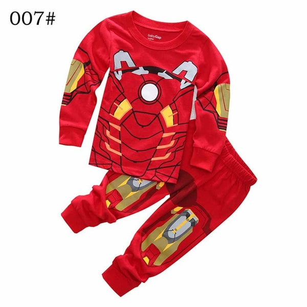 2 PCs Set Captain America Boys Pyjamas-Fashion3K