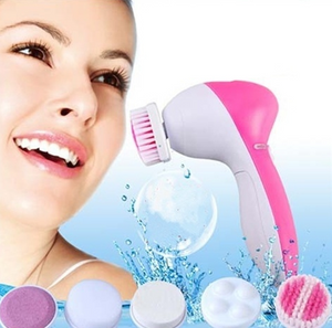 Portable Machine Body Cleaning Massage Skin Beauty Brush, Multifunctional 5-in-1 Deep-layer Electric Face Massager-Fashion3K