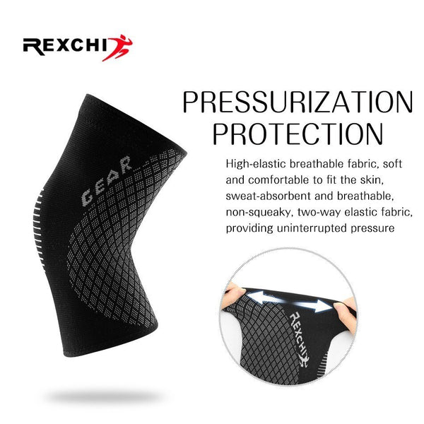 Elastic Kneepads Women Protective Gear Knee Pad Patella Brace Support for Basketball Volleyball Running Sports Safety-Fashion3K