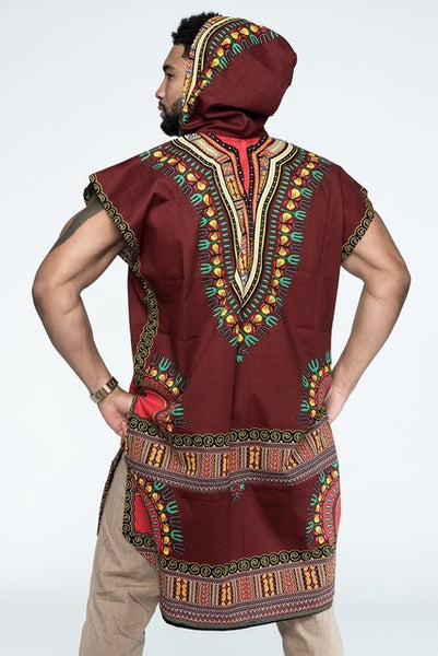 African Dashiki Print Costume Sleeveless Sweatshirt Hoodie Fashion3K