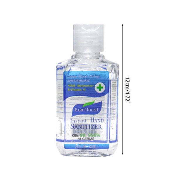 Hand Sanitizer Gel,Kills 99.99% Germs,Long-lasting Anti-Bacterial Quick Drying Liquid Hand Soap,No Water Required 60ML-Fashion3K