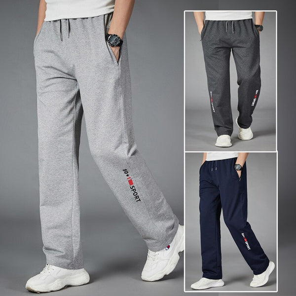 Men Running Pants Joggers Sweatpant Spring Autumn Jogging Sport Trousers Loose Homewear Fitness Straight Breathable-Fashion3K