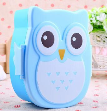 OWL Shape Kids School Daycare Lunch Boxes Containers Tiffins for Children Fashion3K