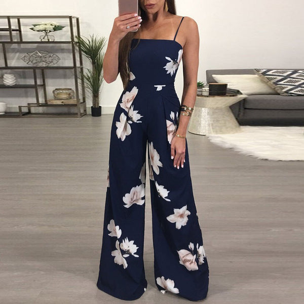 Women Summer Floral Party Jumpsuit Romper-Fashion3K