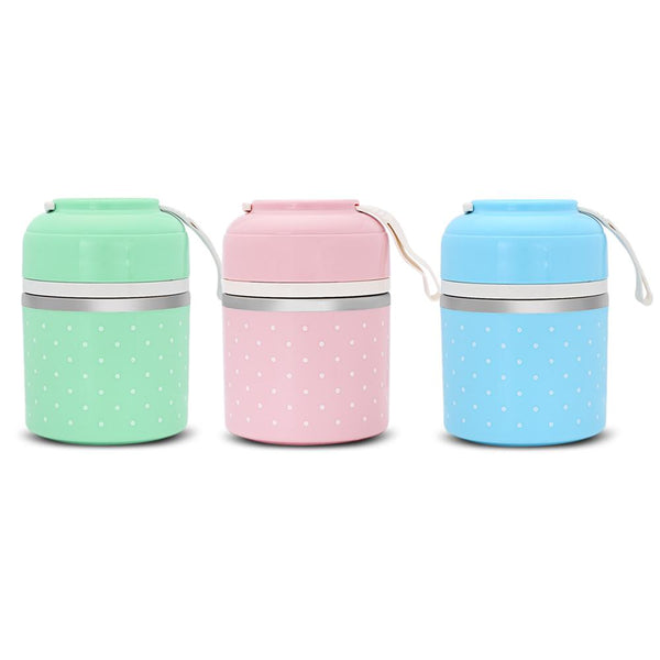 Colorful Stainless Steel Thermal Lunch Box  Food Container School College Work Fashion3K