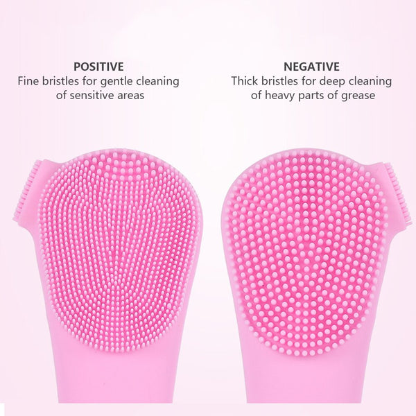 Ultrasonic Electric Silicone Facial Cleansing for Smooth Clear Skin-Fashion3K