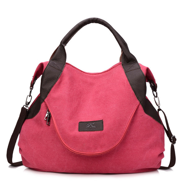 Fashionable Large Pocket Casual Tote Women's Handbag-Fashion3K
