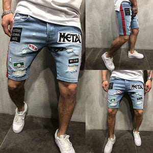 Men Cool Denim Summer Hot Sale Cotton Casual Men Short Pants Brand Clothing Shorts Camo Mens Denim Shorts-Fashion3K