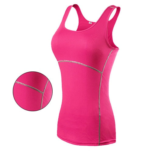Yoga Tops Women Sexy Gym Sportswear Vest Fitness tight woman clothing Sleeveless Running shirt-Fashion3K