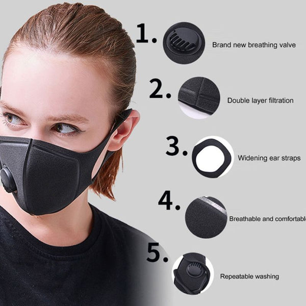Sponge Dustproof PM2.5 Pollution Half Face Mouth Mask Muffle Respirator Fashion3K