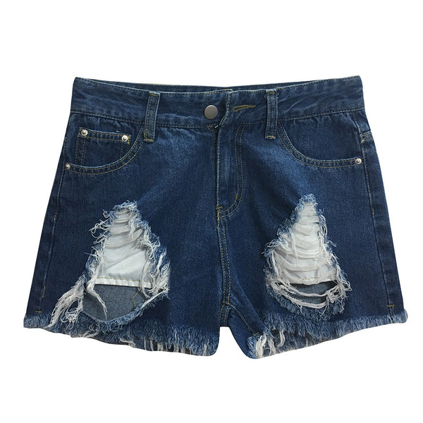 Women Blue Denim Shorts ! Summer Wear!-Fashion3K