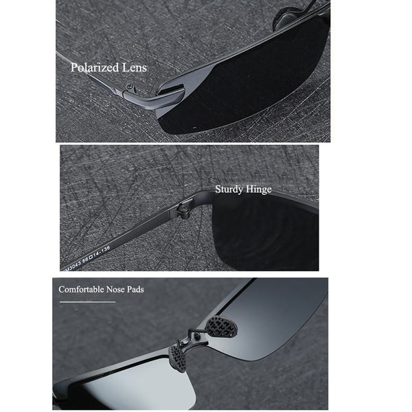Photochromic Sunglasses Men Polarized Chameleon Discoloration Sunglasses For Men-Fashion3K
