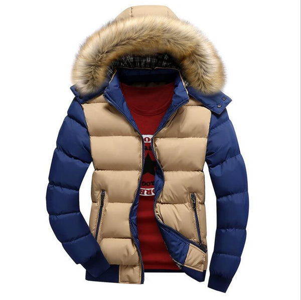 Men's Winter Warm Down Jackets Coats Men Windproof Thick Veste Breathable Cotton-Padded Casual Bomber Jacket-Fashion3K