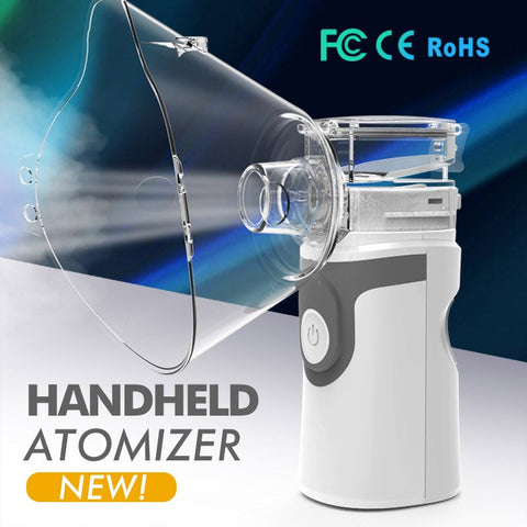 Handhead Mini Ultrasonic Nebulizer Asthma Atomizer Inhaler Portable Mesh Nebuliser Humidifier Sprayer For Adult Children health-Fashion3K