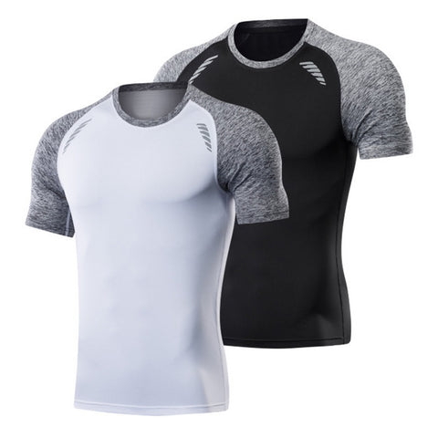 Mens Fitness Quick Dry T Shirts Slim Fit Tops Tees Gym Tshirts Fashion3K