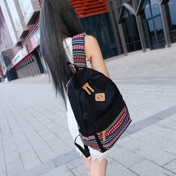 Women Backpack ! Rucksack Girls School Bag Satchel Travel Canvas Boys Backpack bags for women 2019 mochila feminina-Fashion3K