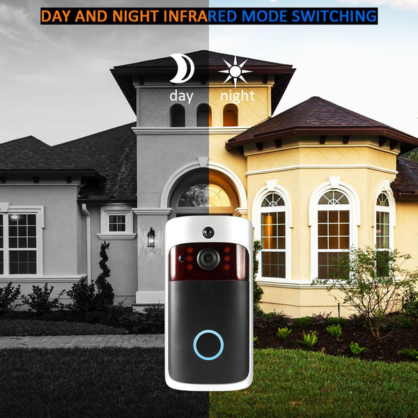 Smart Wireless WiFi Security DoorBell Visual Recording Consumption Remote Home Monitoring Night Vision Smart Video Door Phone-Fashion3K