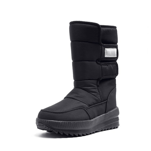 New Womens Snow Boots Thick Fur warm mid calf Winter Boots platform Ladies Waterproof-Fashion3K