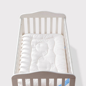 Soft White Mattress for Infants Cot Crib Bedding Toddler Nursery-Fashion3K
