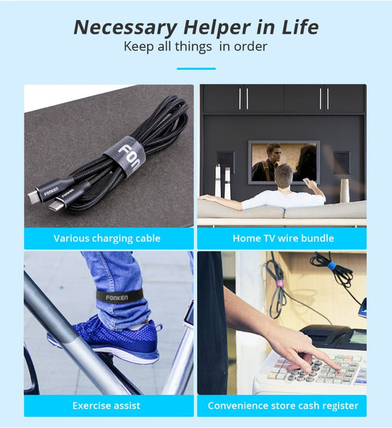 USB Cable TV Computer Wires Cable Organizer Ties Wires Neatly in a Room & Protects avoids Scattered Wires-Fashion3K