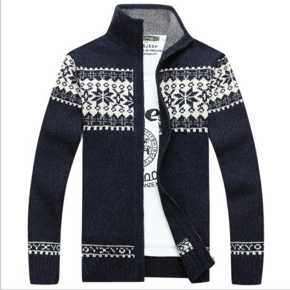 2020 New Sweater Men Jacket Wool Pattern Of Snowflake Cardigan Men Masculine Winter Coats Men Clothes-Fashion3K