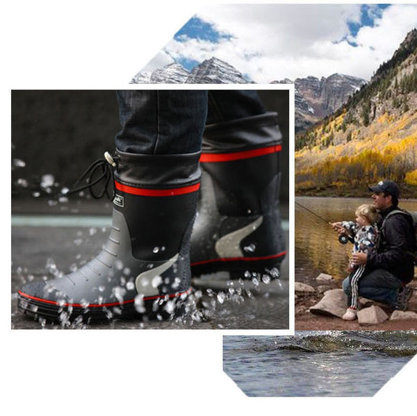 2020 WINTER Camouflage Men SNOW RAIN Boots Cuculus Waterproof With Plush Warm Casual Mid-Calf-Fashion3K