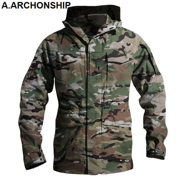 M65 UK US Army Clothes Windbreaker Military Field Jackets Mens Winter/Autumn Waterproof Flight Pilot Coat Hoodie Three colors-Fashion3K