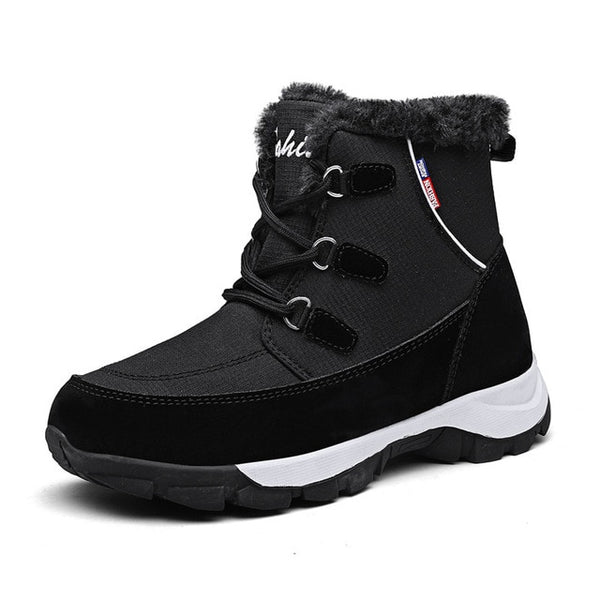 New Ladies Quality Snow Boots Winter Warm Women Ankle Boots Flats Platform-Fashion3K
