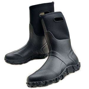New Men's High End Rain Boots Shoes Rubber Boots Outdoor Snow Winter Footwear-Fashion3K
