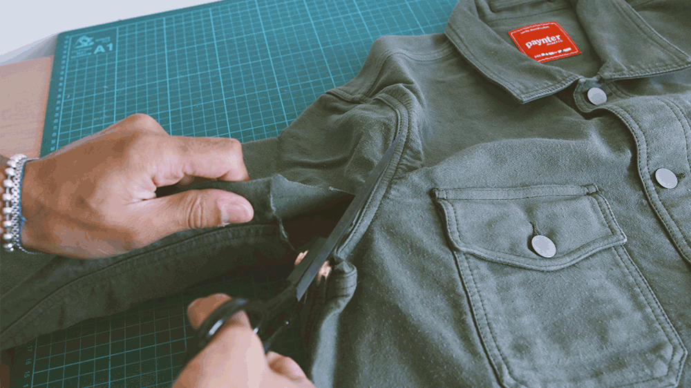 Paynter Jacket Co. x Greater Goods No Waste Sustainability collaboration.