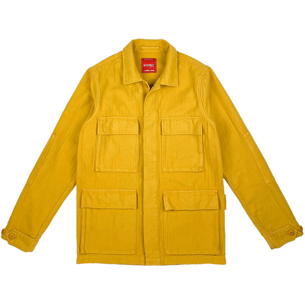 main Paynter Jacket Co's Batch No.3 - The Field Jacket. Limited Edition. Label designed by Ilya Milstein. Mustard Yellow. Military.