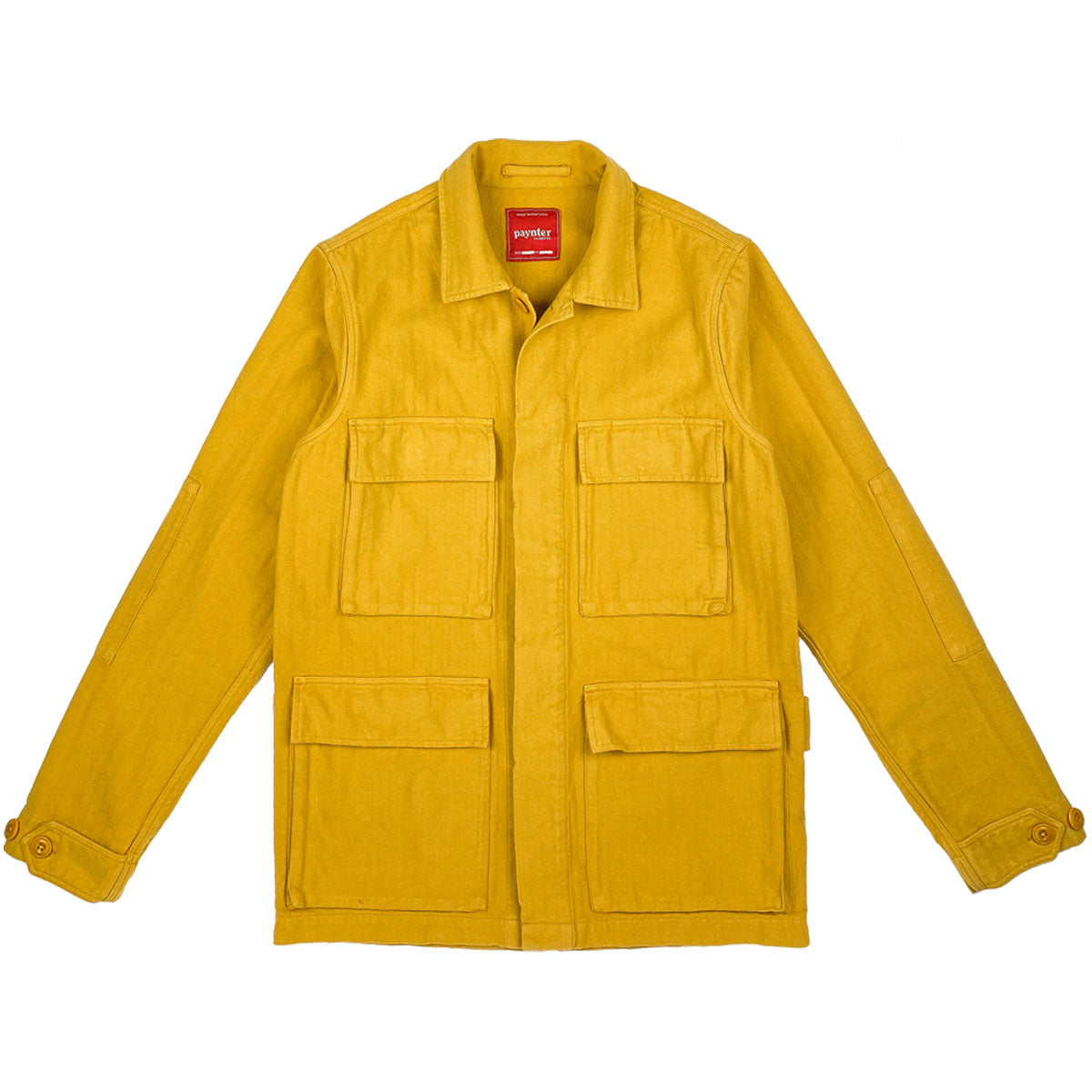 Paynter Jacket Co's Batch No.3 - The Field Jacket. Limited Edition. Label designed by Ilya Milstein. Mustard Yellow. Military.