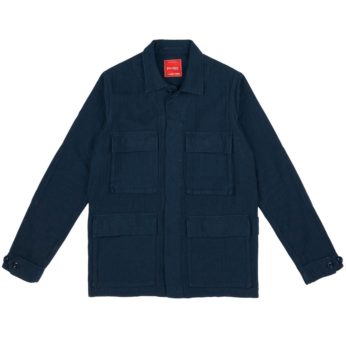 Paynter Jacket Co's Batch No.3 - The Field Jacket. Limited Edition. Label designed by Ilya Milstein. Deep Navy. Portuguese Herringbone.