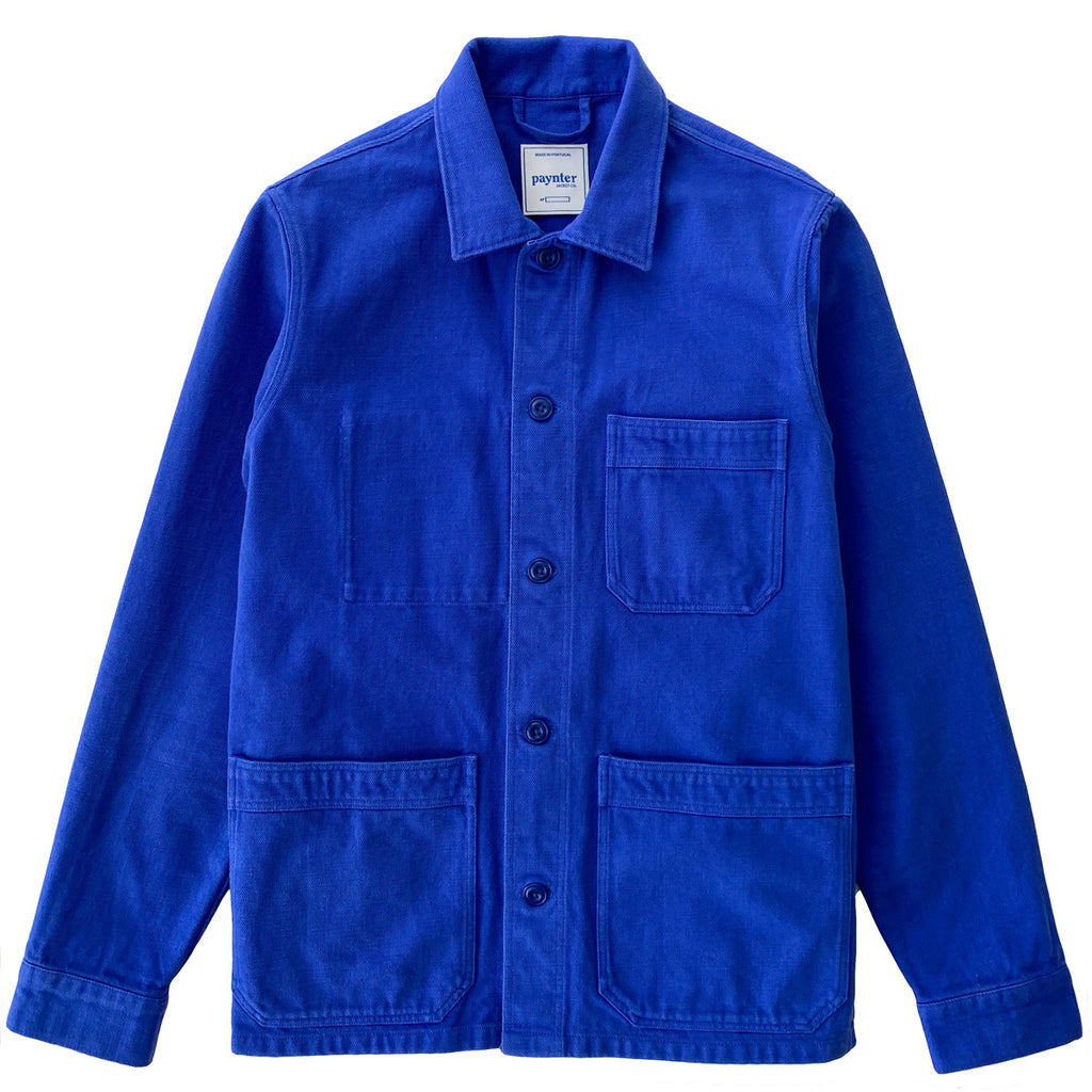 main Paynter Jacket Co's Batch No.3.5 - The NHYES Jacket made exclusively in Bill Cunningham Blue. Limited Edition.