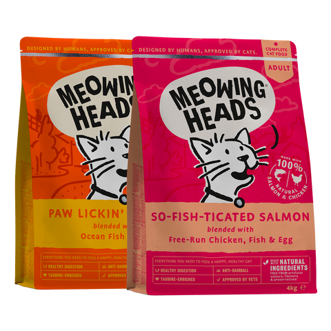meowing heads Cat Dry Favourites Bundle