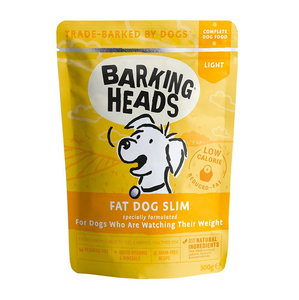 barking heads fat dog slim pouch front of pack