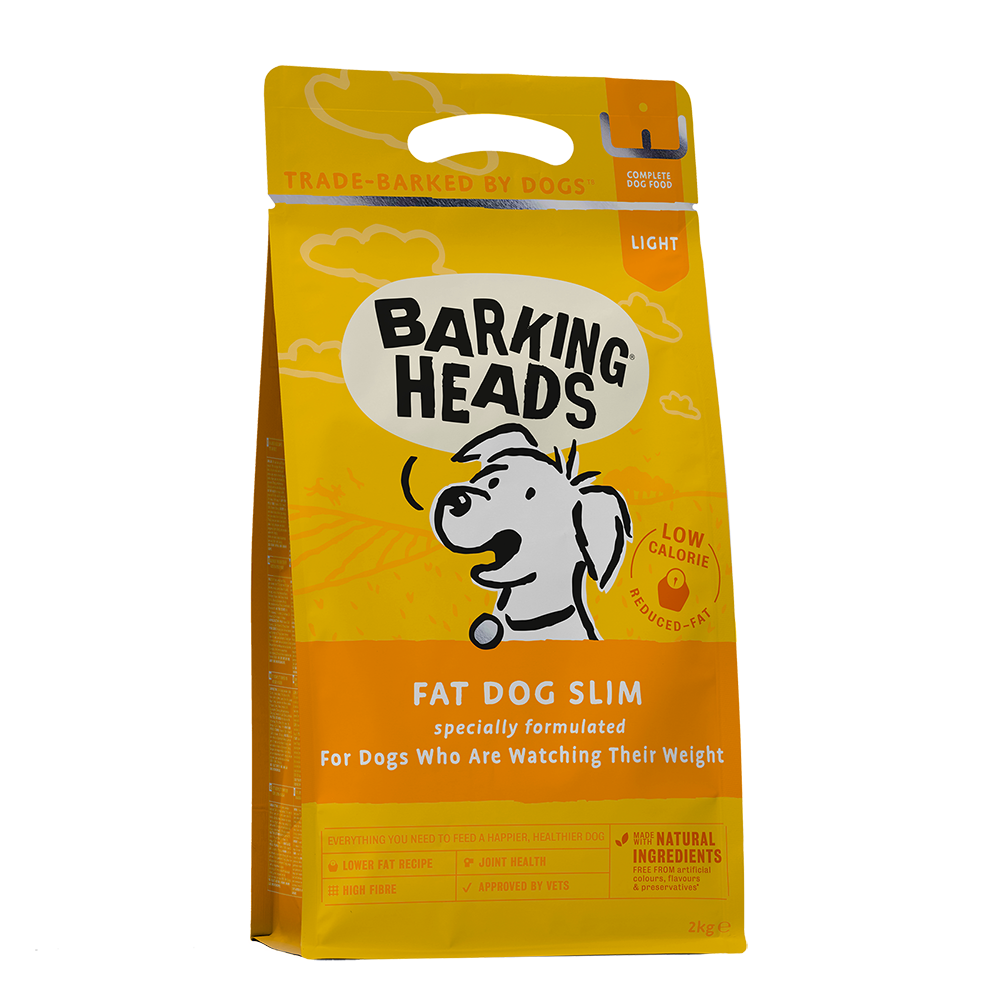 barking heads fat dog slim front of pack