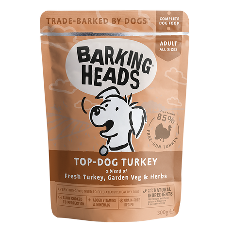 barking heads top dog turkey pouch front of pack