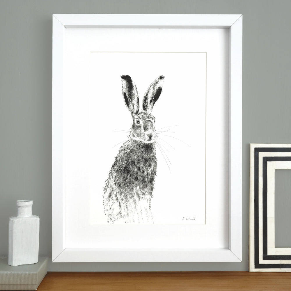 Hare Print 'The Runners no.2'