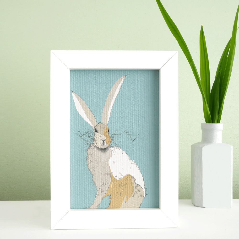 Hare Print 'The Runners no.8 Illuminated'