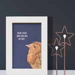 Robin Print 'Robins Appear When Loved Ones Are Near'