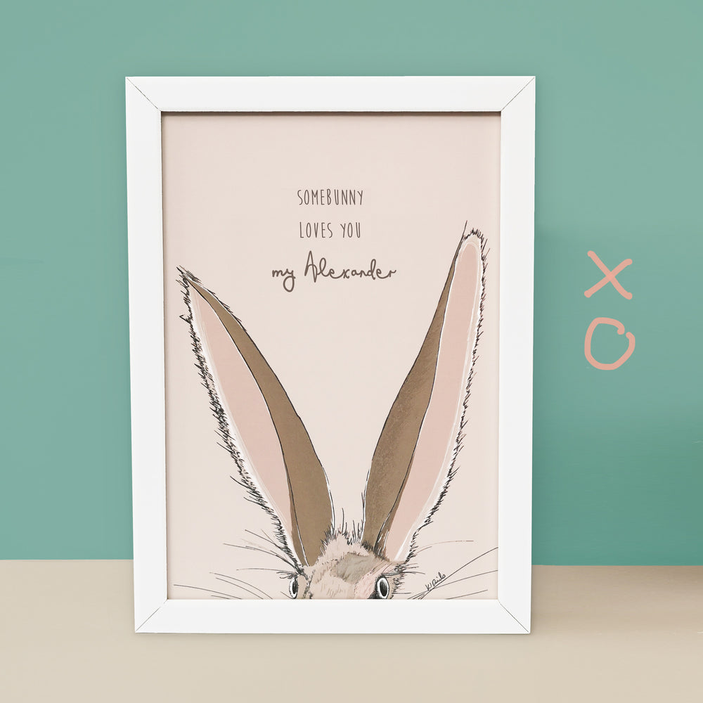 Personalised Bunny Print