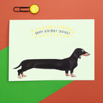 Sausage Dog Birthday Card