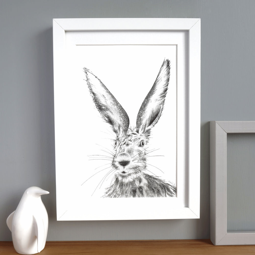 Hare Print 'The Runners no.9'