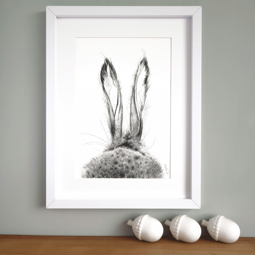 Hare Print 'The Runners no.1'
