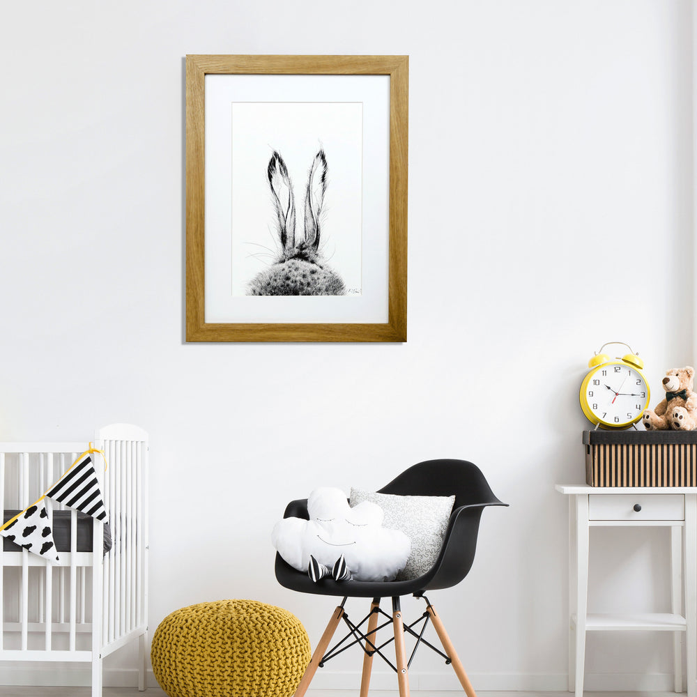 Hare Print 'The Runners no.1' - Little one